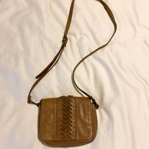 Anthropologie Genuine Leather Crossbody Purse
